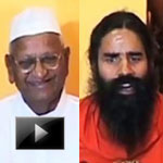 Anna, Baba, Ramdev, joint fast, Press Conference, video, 03 june, team anna, ibtl video