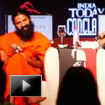 Yoga Guru, Baba Ramdev, author Chetan Bhagat, India Today Conclave 2012, baba ramdev and chetan bhagat, ibtl video of the day, ibt videos