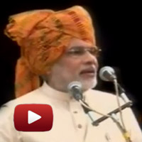 Modi questions PM, Mumbai violence,: Independence Day Speech, junagadh, gujarat, modi speech