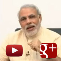 Narendra Modi, Google+, Green Energy, Girl Child education, Role of youth in politics, dietary habits, modi hang out video live, ibtl video