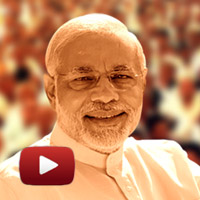 mantra of Vikas, Vishwaas, Vijay, Bhavya & Divya Gujarat, modi oath video,  Modi swearing-in ceremony video, Sardar Patel Stadium