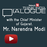Narendra Modi, Network18's Think India dialogue, think india live modi, modi live, live with rajdeep sardesai