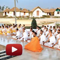 Narendra Modi, Patanjali Yogpeeth-II, Haridwar, innaugration of Acharyakulam, baba ramdev with modi