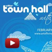 sri sri Live webcast, Twitter Townhall, Sri Sri